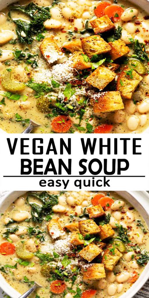 Vegan White Bean Kale Soup