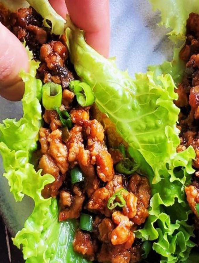 Instant Pot Chicken Lettuce Wraps Recipe